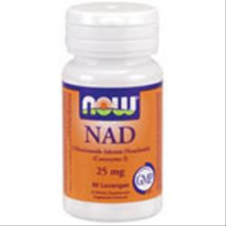 NOW NAD - B-Nicotinamide Adenine Dinucleotide (25mg) 60 lzngs