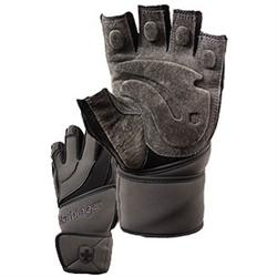 Harbinger WristWrap Training Grip Glove Black /Grey (XL) 2 glove