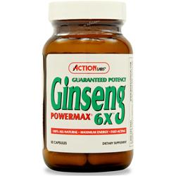 ACTION LABS Ginseng Powermax 6X 50 caps