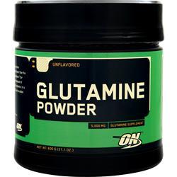 Optimum Nutrition Glutamine Powder Unflavored 600 grams