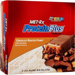 MET-RX Protein Plus Bar Choc Peanut w/ Caramel 12 bars
