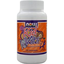 NOW Kid Vits (Chewable) Orange Splash 120 tabs