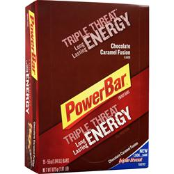 POWERBAR Triple Threat Bar Chocolate Caramel Fusion 15 bars