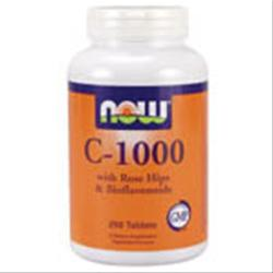 NOW C-1000 with Rose Hips and Bioflavonoids 250 tabs