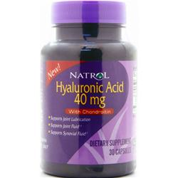 Natrol Hyaluronic Acid with Chondroitin  EXPIRES 7/16 30 caps