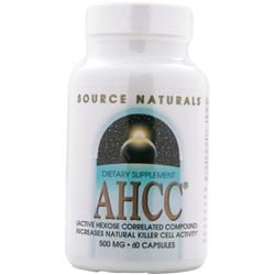 SOURCE NATURALS AHCC - Active Hexose Correlated Compound (500mg) 60 caps
