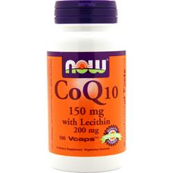 NOW CoQ10 with Lecithin (150mg) 100 vcaps