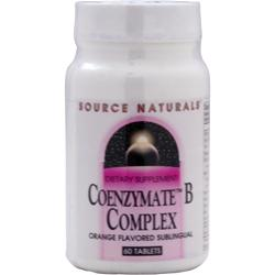 SOURCE NATURALS Coenzymate B Complex Orange 60 tabs