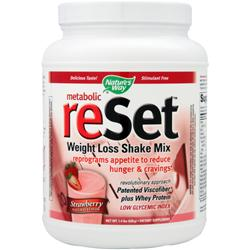Nature's Way Reset - Weight Loss Shake Mix Strawberry 1.4 lbs