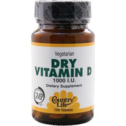 COUNTRY LIFE Dry Vitamin D (1000IU) 100 tabs