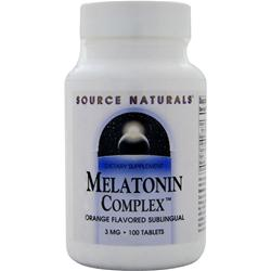 SOURCE NATURALS Melatonin Complex (3mg) Orange (Sublingual) 100 tabs