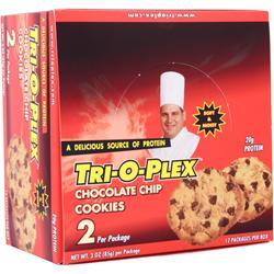 Chef Jay's Tri-O-Plex Cookies Chocolate Chip 12 pckts