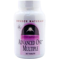 Source Naturals Advanced One Multiple - No Iron 60 tabs