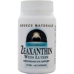 SOURCE NATURALS Zeaxanthin with Lutein 60 caps
