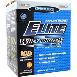 DYMATIZE NUTRITION Elite Whey Protein Isolate Gourmet Vanilla 10 lbs