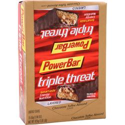 POWERBAR Triple Threat Bar Chocolate Toffee Almond 15 bars