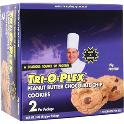 Chef Jay's Tri-O-Plex Cookies Peanut Butter Choc. Chip 12 pckts