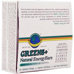 GREENS PLUS Energy Bar Natural 12 bars