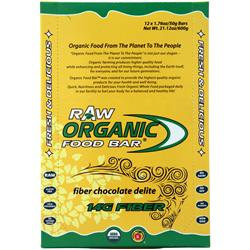 ORGANIC FOOD BAR Raw Bar Fiber Chocolate Delite 12 bars