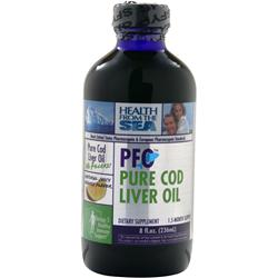 Health From The Sea PFO - Pure Cod Liver Oil Orange 8 fl.oz