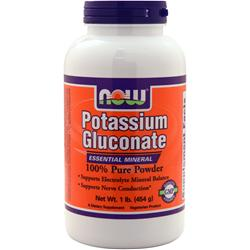 NOW Potassium Gluconate Powder 100% Pure 1 lbs