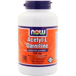 NOW Acetyl-L Carnitine (500mg) 200 vcaps