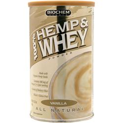 BIOCHEM 100% Hemp & Whey Vanilla 12.2 oz