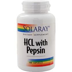 SOLARAY HCL with Pepsin 180 caps