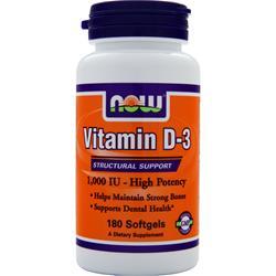 Now Vitamin D-3 (1000IU) 180 sgels