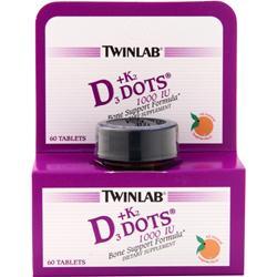 TwinLab D3 plus K2 Dots Tangerine 60 tabs