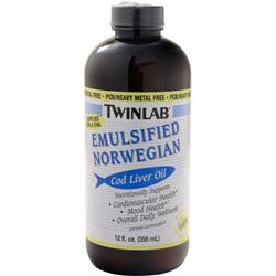 TWINLAB Emulsified Norwegian Cod Liver Oil (liquid) Lemon 12 fl.oz