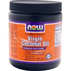 NOW Virgin Coconut Oil (Certified Organic) 20 fl.oz