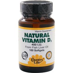 COUNTRY LIFE Natural Vitamin D3 (400 IU) 100 sgels