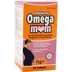 COUNTRY LIFE Prenatal Omega Mom 90 sgels