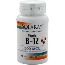 SOLARAY Vitamin B-12 (2000mcg) Cherry 90 lzngs