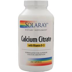 Solaray Calcium Citrate with Vitamin D-3 240 caps