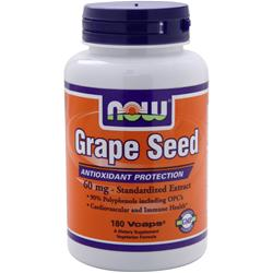 Now Grape Seed Standardized Extract (60mg) 180 vcaps