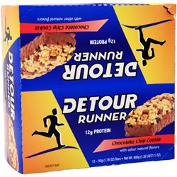 FORWARD FOODS Detour Runner Bar ChocolateChipCook 12 bars