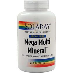 Solaray Mega Multi Mineral Iron Free 200 caps