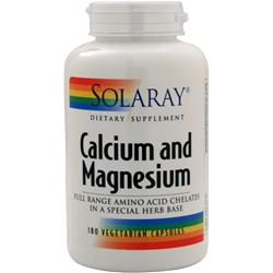 SOLARAY Calcium and Magnesium 180 vcaps