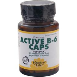 COUNTRY LIFE Active B-6 Caps 30 vcaps