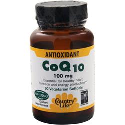 Country Life Coenzyme Q10 (100mg) 60 sgels