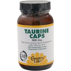 COUNTRY LIFE Taurine Caps (500mg) 100 vcaps