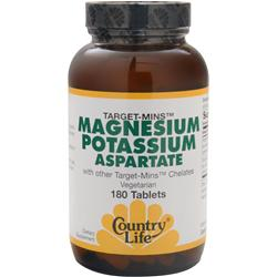 Country Life Target-Mins - Magnesium Potassium Aspartate 180 tabs