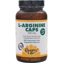 COUNTRY LIFE L-Arginine Caps (500mg) 200 vcaps