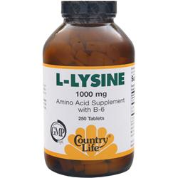 COUNTRY LIFE L-Lysine (1000mg) 250 tabs