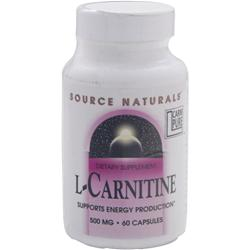 SOURCE NATURALS L-Carnitine (500mg) 60 caps