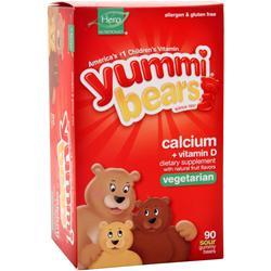 YUMMI BEARS Calcium Plus Vitamin D (Vegetarian) Sour 90 bears