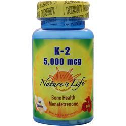 NATURE'S LIFE K-2 (5,000mcg) 60 tabs