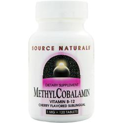 SOURCE NATURALS Methyl Cobalamin (1mg) Cherry 120 tabs